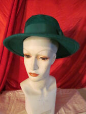 Vintage Green Wool  & Mohair Hat For Ladies Mahara St Patricks Day Hat