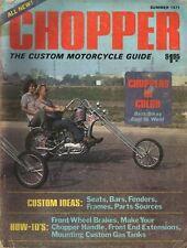 1971 Summer Chopper Custom Motorcycle Guide - Vintage Magazine