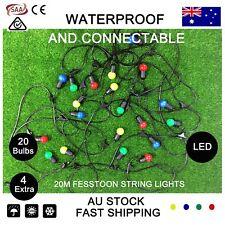20M Colorful LED Festoon String Lights Kit Wedding Party Fairy Vintage Garden AU