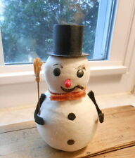 """Vintage Japan Cotton Batten Snowman - 6"""""""