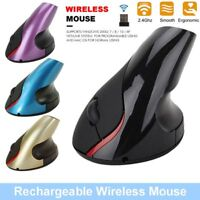 Ergonomic Design Mice Wireless Mouse Vertical 5 Buttons For Computer PC Laptop