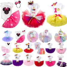 Baby Girls Kids Tulle Tutu Skirts Summer Birthday Party Dress Tops Outfits Set