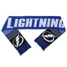 Tampa Bay Lightning Reversible Scarf Knit Winter Neck NEW NHL - Split Logo