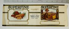 Superfine Brand Everett WA Washington Fruit Products Co 1lb 12 oz Can Label Vtg