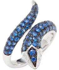 $3950 / NEW /  EFFY Gemma 2.6 CT Blue Sapphire & Diamond Snake ring