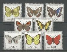 GERMANY 1991 YOUTH WELFARE BUTTERFLIES SG,2361-2368 U/MINT LOT 1124B