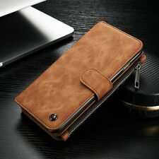 Leather Detachable Magnetic Wallet Card Flip Case Cover For iPhone X 8 7 6s Plus