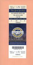 Chicago White Sox @ New York Yankees 2009 ticket stub MINT 8-28-09 World Series