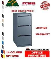3 Drawer Vertical Standard Filing Cabinet Statewide Australian Made-Heavy Duty