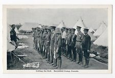 Calling the Roll BARRIEFIELD CAMP Kingston Ontario Canada 1914-18 George Clark