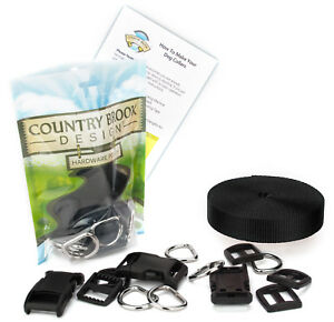 Country Brook Design® 1 Inch Deluxe Dog Collar Kit with Nylon Webbing
