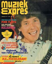 MAGAZINE MUZIEK EXPRES AUGUSTUS 1974  - PINK FLOYD/JIMI HENDRIX/NAZARETH/SPARKS