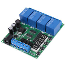 DC 5V 9V 12V 24V 4-Channel Multifunction Delay Time Timer Relay Switch Module GL