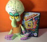 Spongebob dvd All'inseguimento della ric + peluche: Squiddi Tentacolo 30cm circa