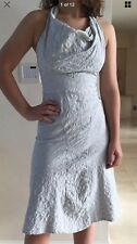 Vivienne Westwood Halter Dress Stretch Cotton Light Gray Size I 42, Fr 38 NEW