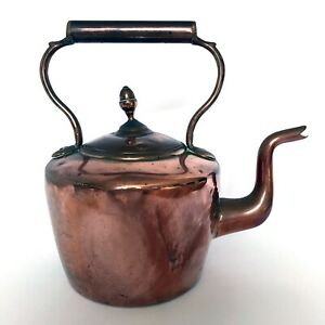 Antique Copper and Brass Victorian Kettle