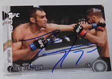 Tony Ferguson Signed UFC 2015 Topps Chronicles Card #132 Autograph 184 181 177