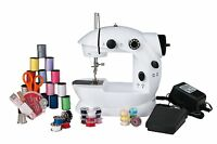 Sunbeam Mini Sewing Machine with 76 PC Sewing Kit and Adapter