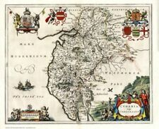 County Map Wall Map 1600-1699 Date Range Antique European Maps & Atlases