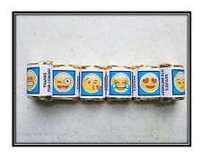 30 Emoji Birthday Hershey Nugget Wrappers Stickers Party Favors Blue