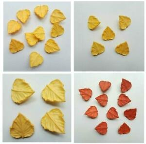 JHB Vtg Autumn Leaf Novelty Shank Buttons Sewing Art Crafts 2 Size Colour Choice