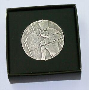 1 X 2 oz Egyptian Horus  .999 BU silver round Scottsdale mint