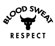CUSTOM Project Rock Blood Sweat Respect-Decal Logo Sticker