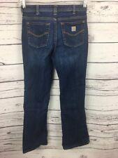Carhartt Women's Jeans Size 4 Boot Cut Mid Rise Dark Work Pants