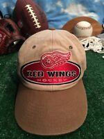 VINTAGE Detroit Red Wings Hat Strapback Cap NHL Hockey VTG Mens Starter H8