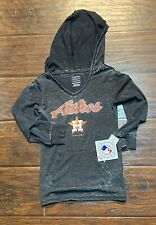 Girls houston astros long sleeved hooded shirt size XS