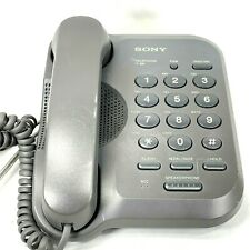Sony IT-B9 Black Corded Phone  Used Tested Working Good Condition cords included