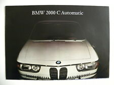 Brochure BMW 2000 C Automatic de 09 / 1965 en allemand
