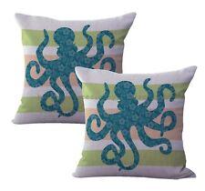 US Seller- 2pcs coastal beach mandala replacement outdoor furniture cushions