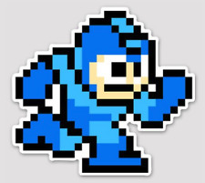 Mega Man  3.5 inch Sticker BOGO White Vinyl Laptop