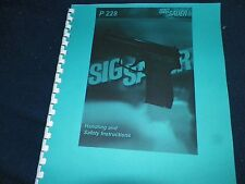 SIG SAUER ARMS, P228,   OWNERS MANUAL,   28 PAGES