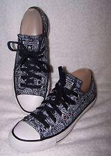Converse All Stars Black White Skull Bones Sneaker size 7 or 37.5