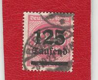 DEUTSCHES REICH (928) MI NR 291 a GESTEMPELT (NEU GEPRÜFT) INFLA Weinbach