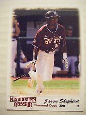 JARON SHEPHERD 2011 MISSISSIPPI STATE DIAMOND DOGS baseball card INDIANAPOLIS IN