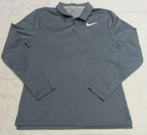 Nike Golf Polo Shirt Womens Large Dri-Fit Long Sleeve Green/Blue 929535-357 EUC