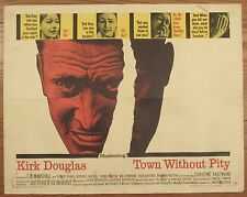 "Original 1961 Kirk Douglas Town Without Pity movie poster 22""x28"""