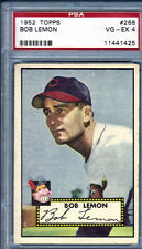 1952 Topps #268 Bob Lemon Cleveland Indians PSA VG-EX 4