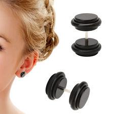3 Pair 18G (1.2mm) Ear Studs 00G (10mm) Acrylic Fake Ear Plug Taper Stretcher