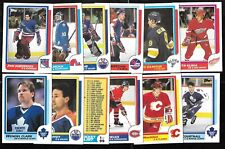 1986-87 TOPPS NHL HOCKEY CARD + STICKER INSERTS 1-198 SEE LIST