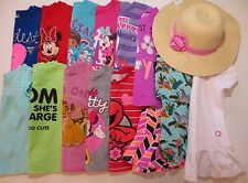 Lot Toddler Girls Size 2T 2/3 Spring Summer Clothes Shirts Hat Outfits