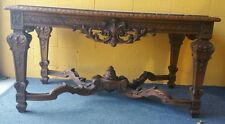 French regency style center table highly carved marble monumental size museum