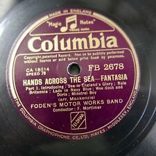 78rpm FODENS MOTOR WORKS BAND hands across the sea