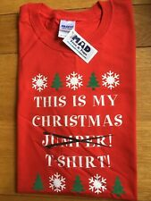 Size XL, Funny This Is My Christmas Jumper/ T-Shirt, T-Shirt By MAD Tees & Tops