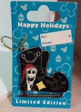 Disney Jack Skellington Happy Holidays 2010 Limited Edition 1500 Pin Ice Skate