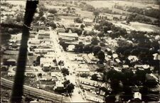 Albion PA From Airplane Aerial View c1920s-30s Real Photo Postcard