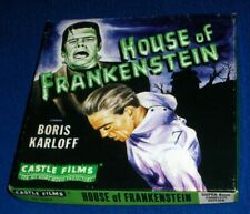HOUSE OF FRANKENSTEIN Super 8mm Castle Films #1043 Sci-Fi Art Lid Boris Karloff